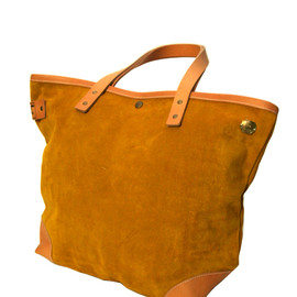 Superior labor - Suede tote bag / YELLOW