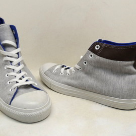Converse - Chuck Taylor Collar Break Hi  Gray/White/Blue