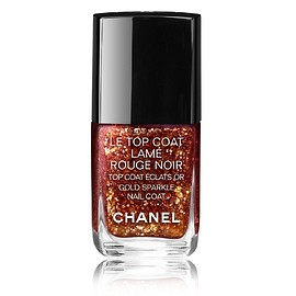 CHANEL - LE TOP COAT LAMÉ ROUGE NOIR
