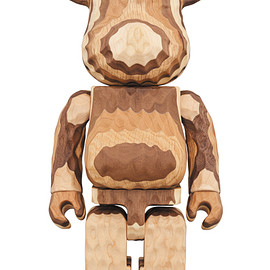 MEDICOM TOY - BE@RBRICK カリモク fragmentdesign 400% carved wooden - LAYERED