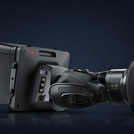 Blackmagic Design - three quarter view Blackmagic Studio Camera