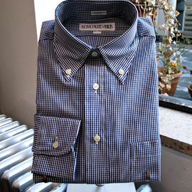 INDIVIDUALIZED SHIRTS - SMALL GINGHAM CHECK/NAVY