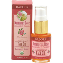 Badger Balm - damascus rose antioxidant face treatment