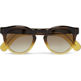 Cutler and Gross - Cutler and Gross Round-Frame Ombre Acetate Sunglasses