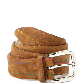 ETRO - Paint Splatter Suede Leather Belt