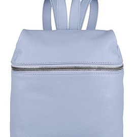 Kara - Small textured-leather backpack