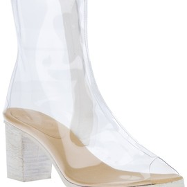 MM6 BY MAISON MARTIN MARGIELA - Transparent PVC peep toe ankle boot