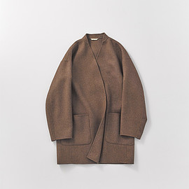 ARTS&SCIENCE - COLLECTION 2017 AW NO COLLAR SMOKING JACKET BROWN