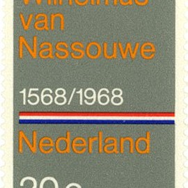 Designed by Wim Crouwel. - Postage stamps from the Netherlands, 1968.