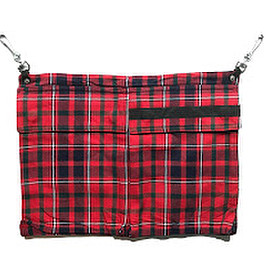PEEL&LIFT - pocket apron / red tartan
