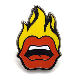 PINTRILL - Fire Mouth Pin  $ 12.00