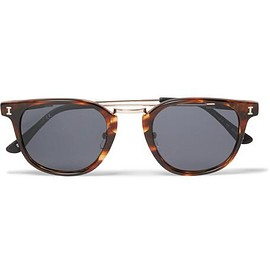 Illesteva - Tribeca II D-Frame Acetate and Gold-Tone Sunglasses