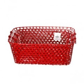THE CONRAN SHOP - KITCHEN BASKETS RED NEST OF 3