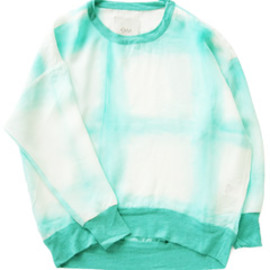 O-M - Kali L/S Top (hand-dyed lagoon)