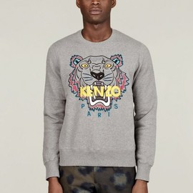 KENZO - Men's Grey Tiger Sweatshirt