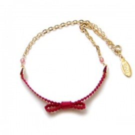 Lilou - RIBBON ANKLET red