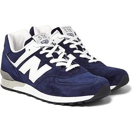 New Balance - 576 Leather-Trimmed Suede Sneakers