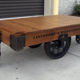 Lineberry Vintage 100% Authentic Railroad, Industrial Factory Carts - Sarasota