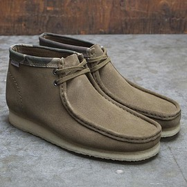 Clarks, Carhartt WIP - Wallabee Boot - Olive/Camo
