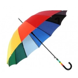 23 inch with 12 ribs colourful rainbow umbrella