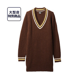 uniqlo × good morning beautiful people - W DIP g.m.b.p.チルデンセーター+E