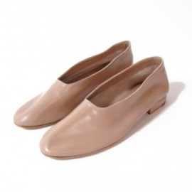 MARTINIANO GLOVE - Leather Glove Flats, Beige