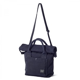 "HEAD PORTER - ""BANFF"" 2WAY TOTE BAG (S) BLACK"
