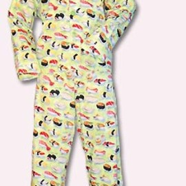 the cats pajama - sushi flannel pajama