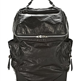 ALEXANDER WANG - Wallie Backpack In Waxy Black With Rhodium Thumb