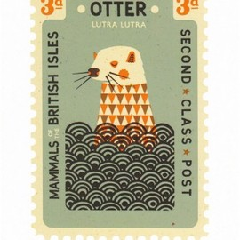 Tatty Devine - Otter Card by Tom Frost