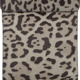 Alaïa  - Animal-print calf hair iPad case