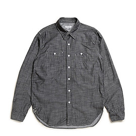 ENGINEERED GARMENTS - Work Shirt-Lt.Weight Denim-Black