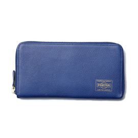 "HEAD PORTER - ""CALVI"" WALLET (L) BLUE"