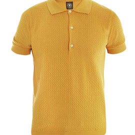 Trussardi 1911 - Waffle weave polo top