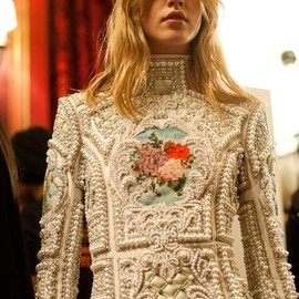 Balmain - Pearl Embellished Dress