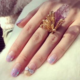 conoa - Amethyst Spear free size ring
