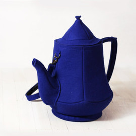 krukrustudio - Teapot Bag Dark Blue Felt Bag