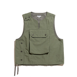 ENGINEERED GARMENTS - Cover Vest-Cotton Ripstop-Olive