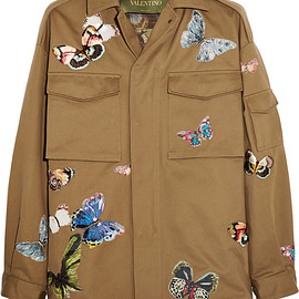 VALENTINO - Jacket with Camubutterfly hand-embroideries
