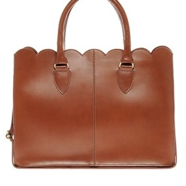 ASOS Collection - leather Scallop Edge Shopper