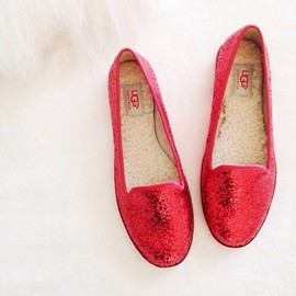 UGG - red sequin shoes.