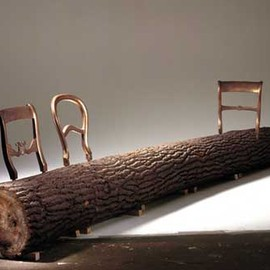 Droog - tree trunk bench