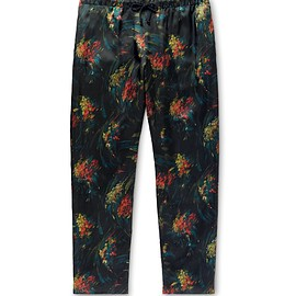 Dries Van Noten - Floral print satin trouser