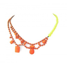 Tom Binns - ORANGE CRYSTAL AND YELLOW PEARL NECKLACE