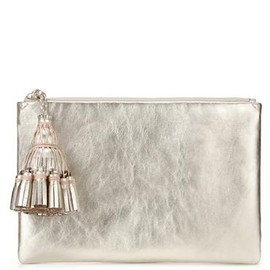 ANYA HINDMARCH - Georgiana Zip Top Clutch - Pale Gold