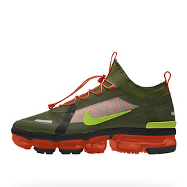 NIKE, Nike By You - Air Vapormax 2019 Utility By You - Legion Green/Black/Cosmic Clay/Volt