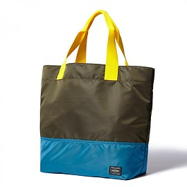 "HEAD PORTER - ""YOSEMITE"" TOTE BAG (M) KHAKI"