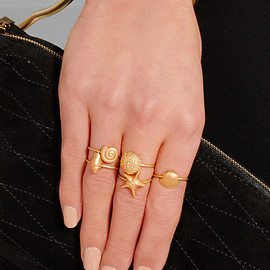 VALENTINO - SS2015 Set of five gold-tone rings