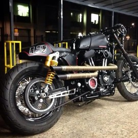 RB Kustoms - 'Fifty Shades Of Black' Harley Davidson Sportster
