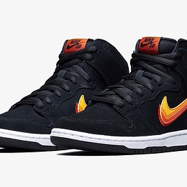 NIKE SB - Dunk High Pro SB - Black/University Gold/Team Orange